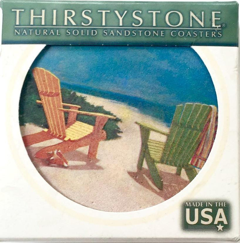 Thirstystone Beach Coaster Set - Clearance - Teaura Tea | Online Tea Store