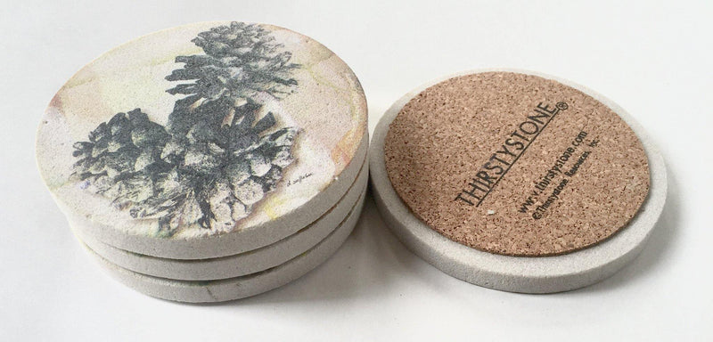Thirstystone Pincone Coaster set - Clearance - Teaura Tea | Online Tea Store