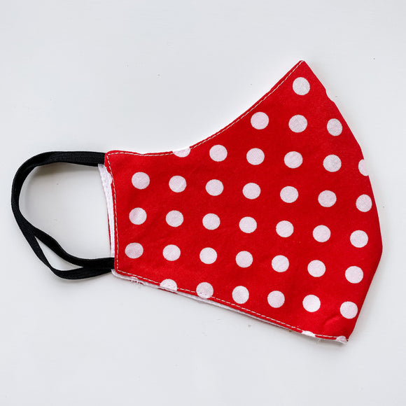Red + White Polka Dot