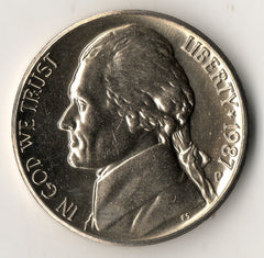 1987-P Jefferson Nickel