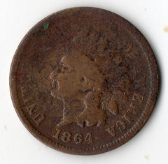 1864-L Indian Head Cent (Indian Head Penny)