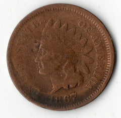1867 Indian Head Cent  (Indian Head Penny)