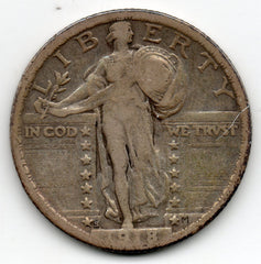1918-S Standing Liberty Quarter (90.0% Silver)