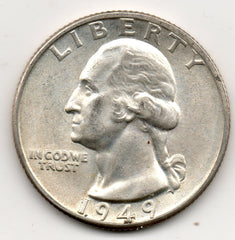 1949-D Washington Quarter (90.0% Silver)