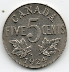 Canada 5 Cent 1924 (Nickel)