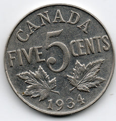 Canada 5 Cent 1934 (Nickel)