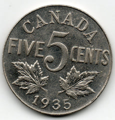 Canada 5 Cent 1935 (Nickel)