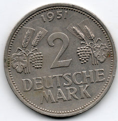 Germany 2 Mark 1951 F