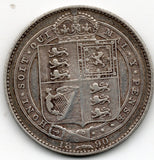 Great Britain 1 Shilling 1890 (92.5% Silver)