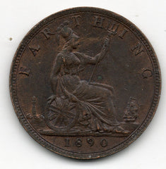Great Britain 1 Farthing 1890 (KM-753)