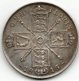Great Britain 1 Florin 1915 (92.5% Silver)