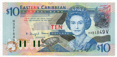 East Caribbean States 10 Dollars 1994 (P-32v) Uncirculated