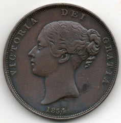 Great Britain 1 Penny 1854 Queen Victoria