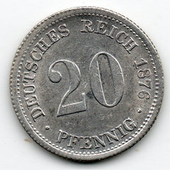 Germany 20 Pfennig 1876 F - About Uncirculated