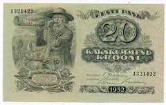 Estonia 20 Krooni 1932 (P-64a) Uncirculated