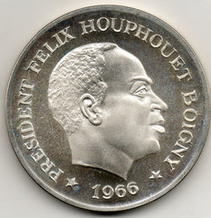 Ivory Coast 10 Francs 1966 PROOF (92.5% Silver)