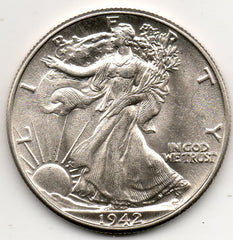 1942-P Walking Liberty Half Dollar Uncirculated (90.0% Silver)