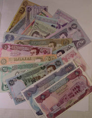 IRAQ Uncirculated Banknotes - 24 Different