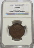 Great Britain 1/2 Penny 1858/7 (KM-726) NGC AU 58 Brown