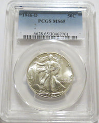 1946-D Walking Liberty Half Dollar - PCGS MS 65 (90.0% Silver)