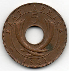 East Africa 5 Cents 1941
