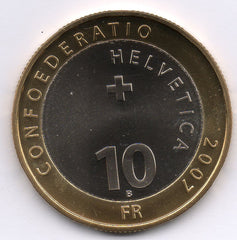 Switzerland 10 Francs 2007