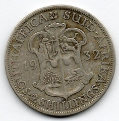 South Africa 2 Shillings 1932 (80.0% Silver)
