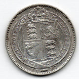 Great Britain 6 Pence 1887 (Sixpence) (92.5% Silver)