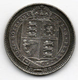 Great Britain 6 Pence 1888 (Sixpence) (92.5% Silver)