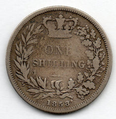 Great Britain 1 Shilling 1858 (92.5% Silver)