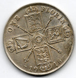 Great Britain 1 Florin 1916 (92.5% Silver)