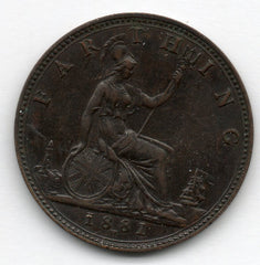 Great Britain 1 Farthing 1881 H