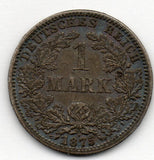 Germany 1 Mark 1875 A (90.0% Silver)