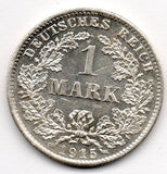 Germany 1 Mark 1915 D (90.0% Silver)