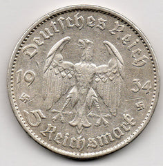 Germany 5 Reichsmark 1934 G