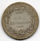 Great Britain 1 Shilling 1880 (92.5% Silver)