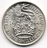 Great Britain 1 Shilling 1944 (50.0% Silver)