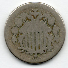 1875 Shield Nickel - DOUBLE DIE OBVERSE