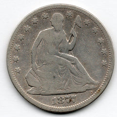 1877-P Seated Liberty Half Dollar