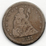 1875-S Twenty Cent Quarter (90.0% Silver)