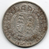 Great Britain 1/2 Crown 1889 (Half Crown) (92.5% Silver)