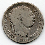 Great Britain 6 Pence 1819 (Sixpence) (92.5% Silver)