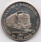 Alaska Railroad 1865-1985 - 1 oz (99.9% Silver)