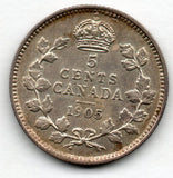 Canada 5 Cent 1905 (Nickel) (92.5% Silver)