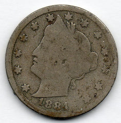1884 Liberty Head Nickel (V Nickel)