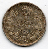 Canada 5 Cent 1906 (Nickel) (92.5% Silver)