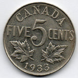 Canada 5 Cent 1933 (Nickel)
