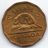 Canada 5 Cent 1942 (Nickel)
