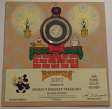 DISNEY Mickey Mouse Holiday Coin Card 1989