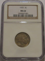 1925 Buffalo Nickel - NGC MS 64